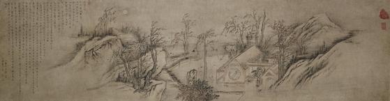 김홍도, 추성부도, 보물 제 1393호 ,: 55.8x214.7cm. [사진 국립중앙박물관]