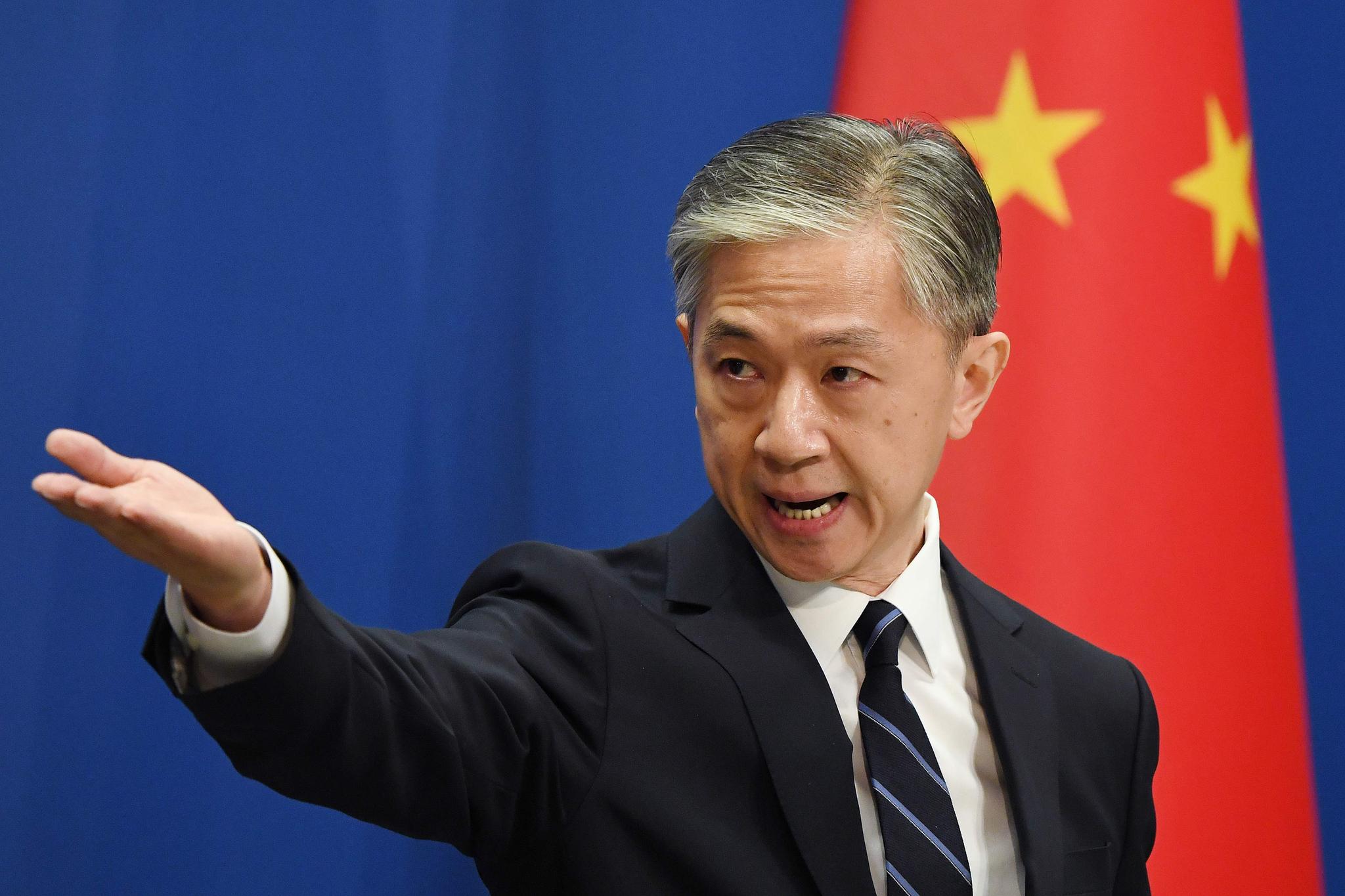 왕원빈(汪文斌) 중국 외교부 대변인. AFP=연합뉴스
