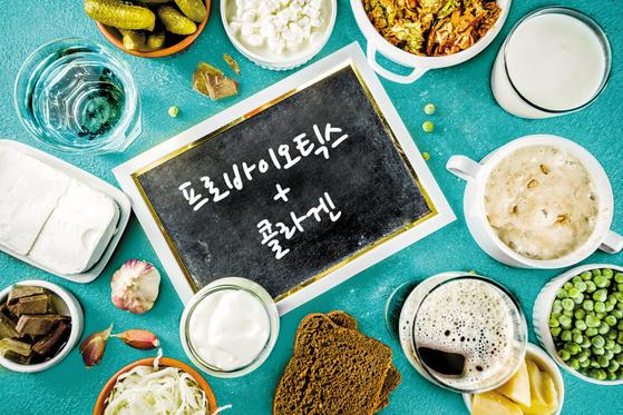 장 건강을 위해서는 유익균이 풍부한 발효식품을 먹는 것이 좋으며, 장 건강이 나빠져 푸석한 피부에는 콜라겐을 채우는 게 좋다. [사진 게티이미지뱅크]