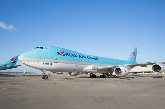 현대 미술의 거장 피카소 작품들을 옮기는 데 투입된 특별 화물기. 대형 항공기인 보잉 747 기종을 화물용으로 투입했다. [사진 대한항공]