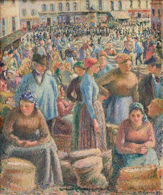 카미유 피사로, 퐁투아즈 시장, Marché de Pontoise,, 1893. [사진 국립현대미술관]