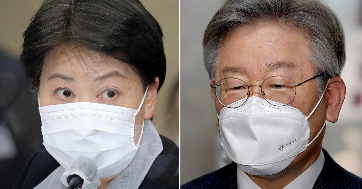 윤희숙 국민의힘 의원(왼쪽)과 이재명 경기도지사. 연합뉴스·뉴스1