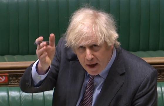 보리스 존슨 영국 총리. 더벅머리가 괴짜인 그의 트레이드마크다. AFP=연합뉴스