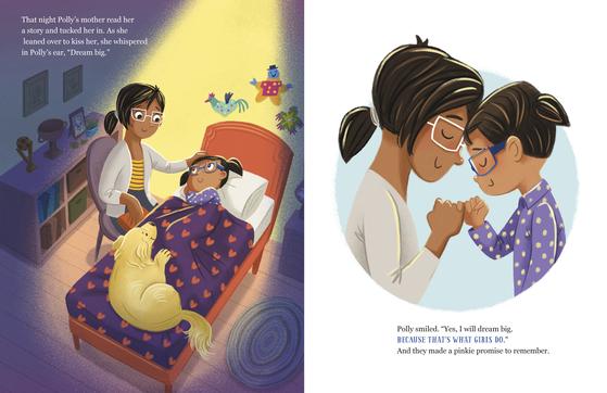 워런 상원의원이 집필한 소녀를 위한 동화책 『새끼손가락 걸고 약속(Pinkie Promises)』의 일부. 소녀들에게 진취적인 삶의 방식을 권한다. AP=연합뉴스
