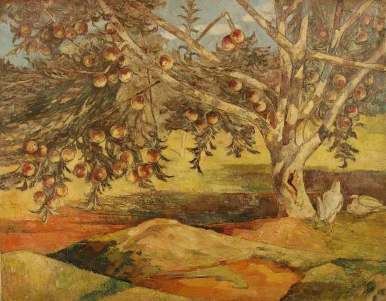 이인성, 사과나무, 캔버스에 유채, 91x116.5㎝, 1942. [사진 대구미술관]