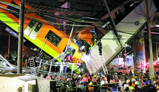 멕시코 고가철도 붕괴 ... 최소 23명 사망
