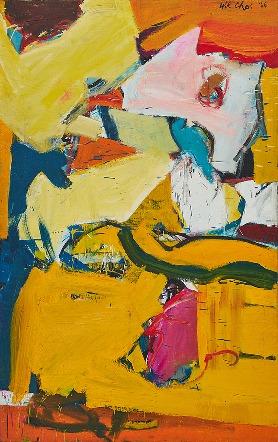 최욱경,무제, 1966,Oil on canvas , 85 x 121cm, 개인 소장, Keith Park촬영. [사진 국제갤러리]