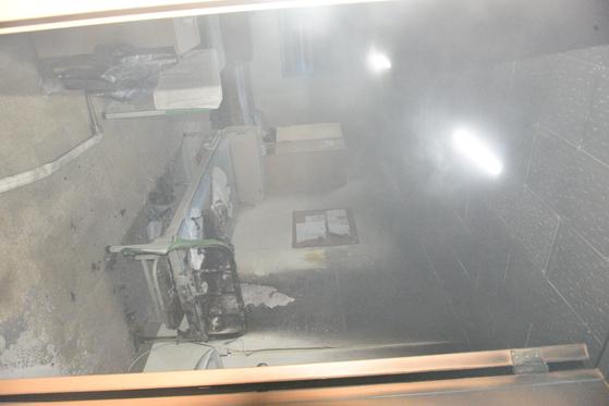 5일 오후 대구 동구 한 병원에서 발생한 화재가 진화된 후 모습. 사진 대구소방안전본부