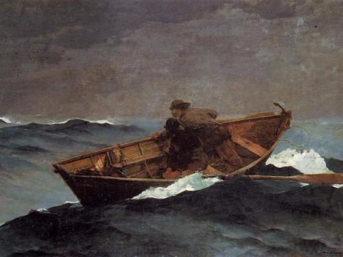 윈슬로 호머의 그림 , 'Lost on the Grand Banks' [사진 위키피디아]