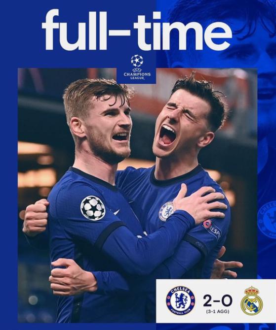 첼시가 9년 만에 유럽 챔피언스리그 결승에 올랐다. [사진 첼시 인스타그램]