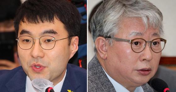 김남국 더불어민주당 의원(왼쪽)과 조응천 더불어민주당 의원. 연합뉴스·뉴스1