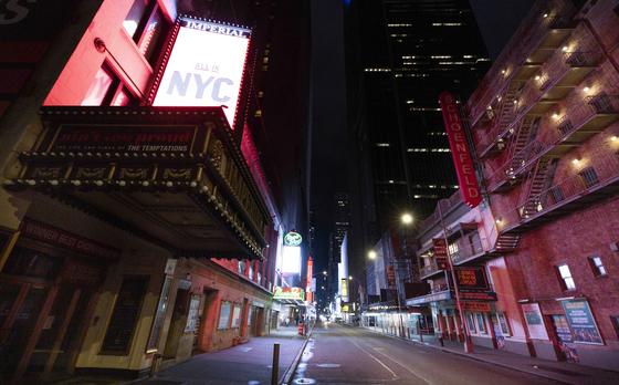 지난해 10월 13일(현지시간) 미국 뉴욕 타임스퀘어 근처의 브로드웨이 극장가. EPA=연합뉴스