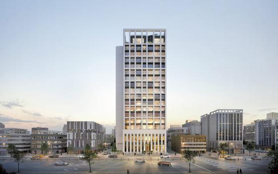 올해 새 아파트 분양이 사실상 전무한 강남에 선보이는 대안 주거시설 '상지카일룸M' 투시도.