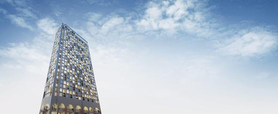 건물 최상층에 인피니티풀이 조성돼 파노라마같은 도심뷰를 누릴 수 있는 루카831 투시도.