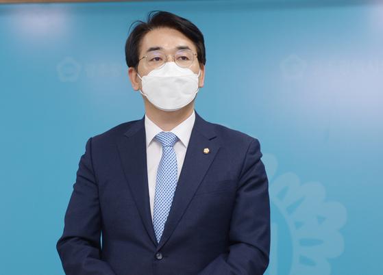 제20대 대통령 선거 출마를 선언한 박용진 더불어민주당 의원. 뉴스1