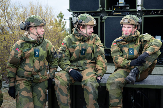노르웨이는 2016년부터 여성징병제를 시작했다. 사진 노르웨이 군.