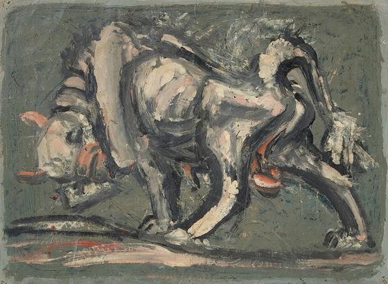 이중섭 , 흰소 , 1953~54, 30.7x41.6cm.[사진 국립현대미술관]