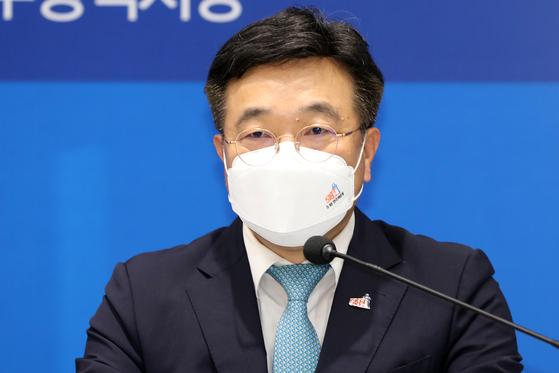윤호중 더불어민주당 원내대표. 뉴스1