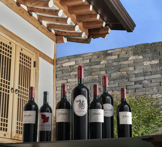 단 기간에 가장 성공한 나파와인으로 유명한 '슈레이더 셀라스'의 와인들. [사진 나라셀라]