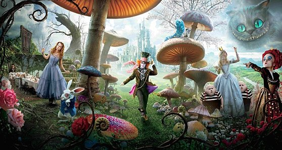 영화 '이상한 나라의 앨리스' 속 앨리스는 판타지 세계에서 모자 장수, 하얀 여왕, 붉은 여왕 등을 만난다. 또 다른 세계를 모험하면 이처럼 흥미로운 상황이 전개된다.
