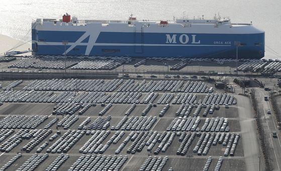현대자동차 울산공장 수출선적부두. 최근 수출 증가에 따라 제조업 일자리 수도 증가했다. 연합뉴스
