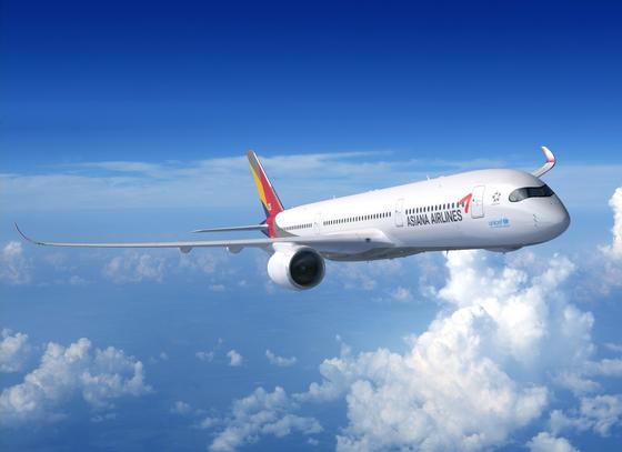아시아나항공이 인도 교민을 위해 편성한 특별기(A350). [사진 아시아나항공]