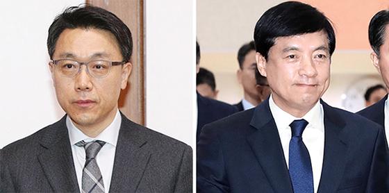 김진욱(왼쪽) 고위공직자범죄수사처장과 이성윤(오른쪽) 서울중앙지검장. 중앙포토
