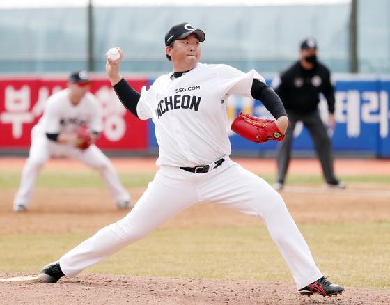 SSG가 웨이버공시한 투수 김세현. [뉴스1]