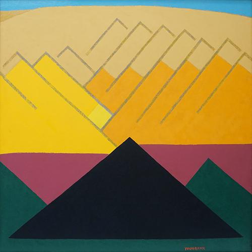 유영국(1916-2002), Work,1978 Oil on canvas 135 x 135 cm. [사진 국제갤러리]