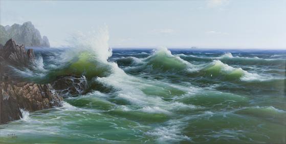 북한 공동창작화 '바다', 2008 Oil on canvas ,150 x 295 cm. [사진 Sigg Collection]