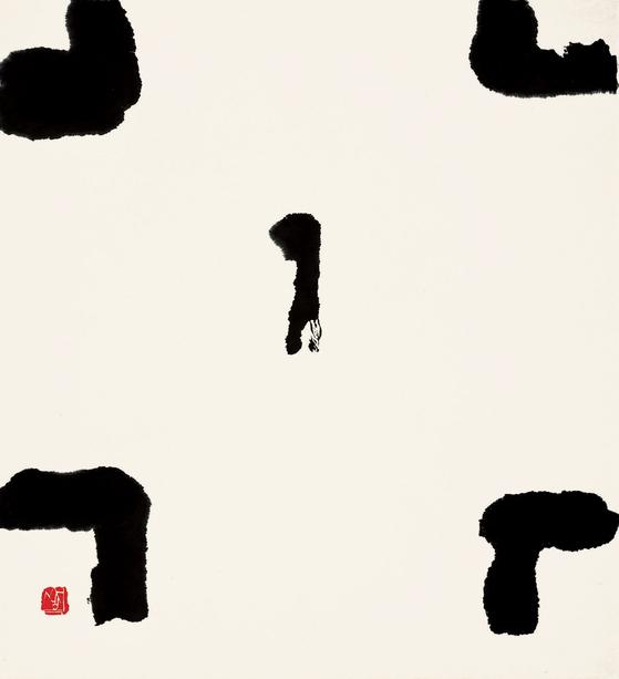 산정 서세옥, 행인, 1978, 한지에 수묵, 81.4x74.8cm.[사진 성북구청]