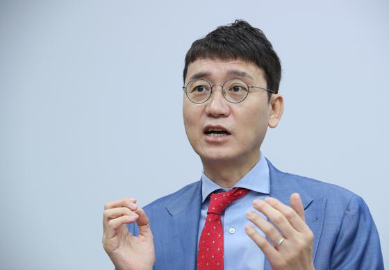 국민의힘 당 대표 경선에 출마하는 김웅 의원. 연합뉴스