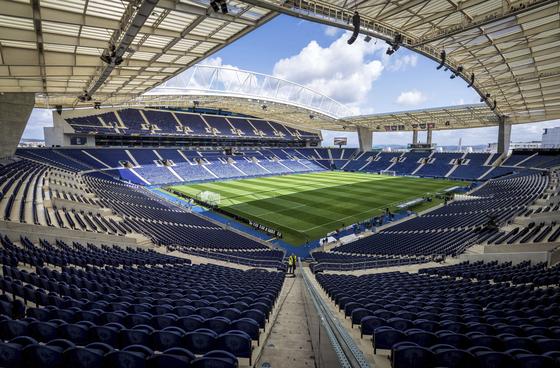 올 시즌 유럽 챔피언스리그 결승전 장소로 낙점 된 포르투의 에스타디우 두 드라강 전경. [AP=연합뉴스]