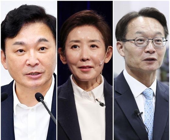 왼쪽부터 원희룡 제주지사, 국민의힘 나경원 전 의원, 조해진 의원. 이들은 모두 서울대 법대 82학번이다. 중앙포토