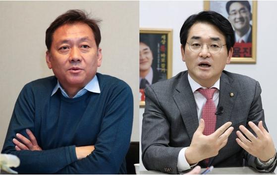 더불어민주당 소속 이광재 의원(사진 왼쪽)과 박용진 의원. 임현동 기자