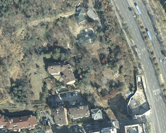 2009년 11월 촬영한 위성사진. [국토정보맵]
