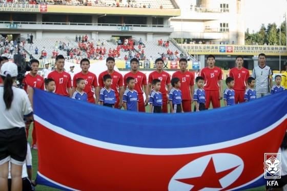 북한 축구대표팀. 대한축구협회 제공