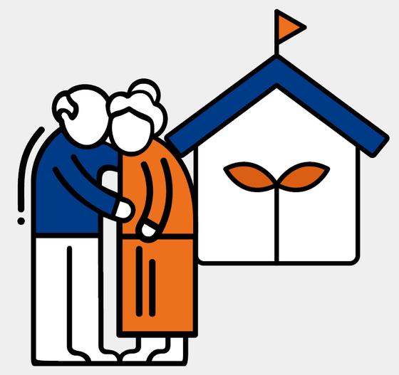 다음달부터 주택연금 가입자가 사망하면 자녀 동의없이도 배우자에게 연금 수급권이 자동승계되는 신탁방식 주택연금이 나온다. 주택금융공사.
