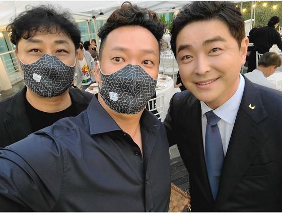 개그맨 김수용(왼쪽부터), 박준형, 서동균. 박준형 인스타그램 캡처