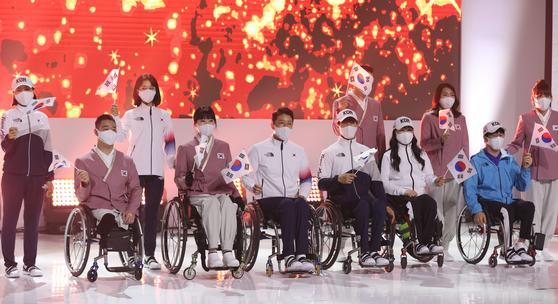 17일 열린 도쿄패럴림픽 대한민국선수단 단복시연회. [연합뉴스]