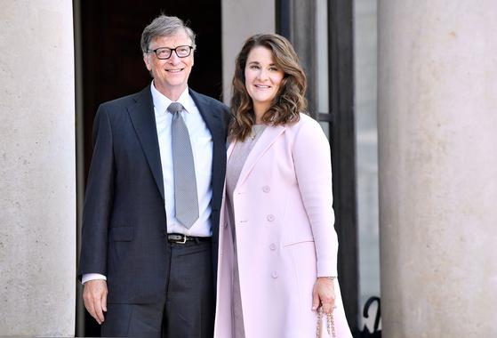 마이크로소프트(MS) 창업자 빌 게이츠(66)와 부인 멀린다 게이츠(57) [EPA=연합뉴스]