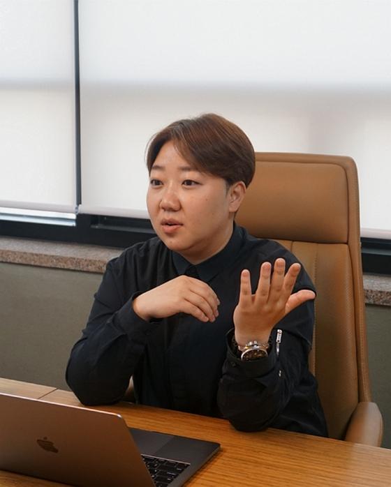 이양열(35) SF이노베이션 대표가 12일 서울 강남구 본사에서 중앙일보와 인터뷰하고 있다. [사진 SF이노베이션]