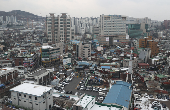 공공재개발 후보지인 서울 흑석2구역 모습. 연합뉴스