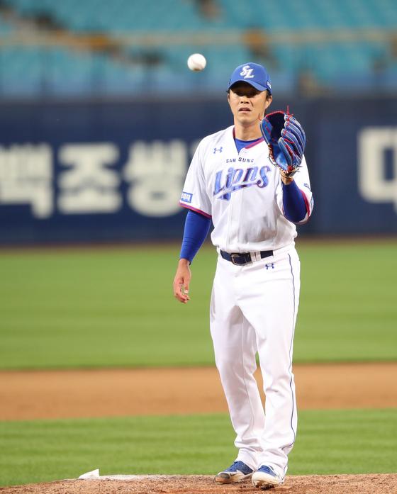 올 시즌 6점대 평균자책점으로 부진한 삼성 불펜 장필준. 삼성 제공
