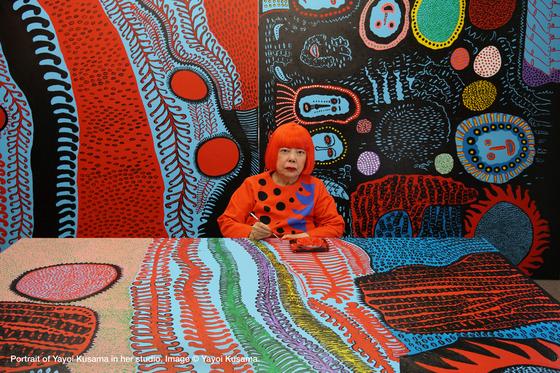 19일 개봉한 다큐 '쿠사마 야요이: 무한의 세계(Kusama: Infinity)'는 '땡땡이 아티스트'로 사랑받는 할머니 화가 쿠사마 야요이의 평생에 걸친 예술혼을 조명한다. [사진 오드]