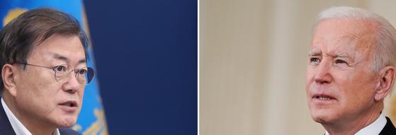 문재인 대통령이 21일(현지 시간)조 바이든 미국 대통령과 첫 대면 정상회담을 한다. 연합뉴스