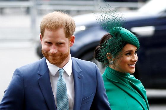 영국 해리 왕자(왼쪽)과 부인 매건 마클 왕자비. 로이터=연합뉴스