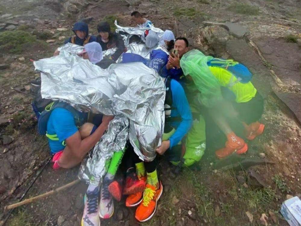 중국 산악마라톤 참석자들. 사진 중국 웨이보