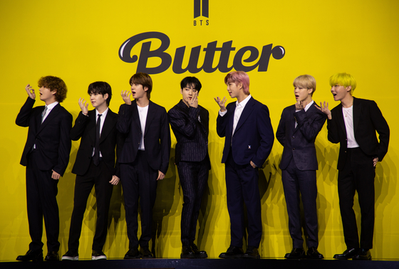 BTS. 신곡 '버터'는 2021년을 대표하는 여름 노래 후보로 꼽힌다. 연합뉴스