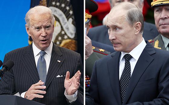 바이든(左), 푸틴(右)